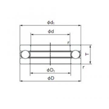 NACHI 51310 thrust ball bearings