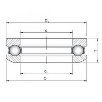 ISO 53416 thrust ball bearings