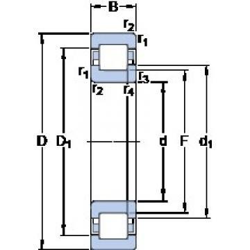 40 mm x 90 mm x 33 mm  40 mm x 90 mm x 33 mm  SKF NUP 2308 ECML thrust ball bearings