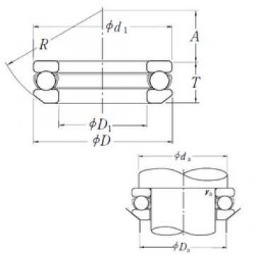 NSK 53215 thrust ball bearings