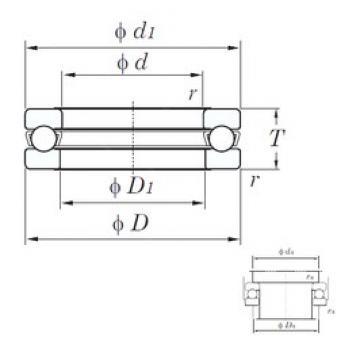 KOYO 51111 thrust ball bearings