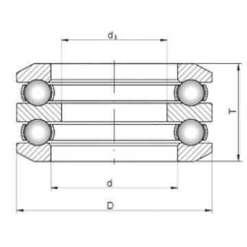 ISO 54316 thrust ball bearings