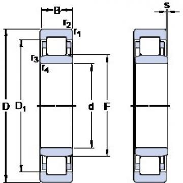 50 mm x 90 mm x 23 mm  50 mm x 90 mm x 23 mm  SKF NU 2210 ECP thrust ball bearings