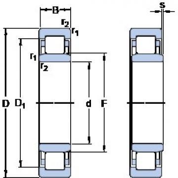 400 mm x 600 mm x 148 mm  400 mm x 600 mm x 148 mm  SKF NU 3080 MA thrust ball bearings