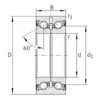 17 mm x 47 mm x 25 mm  17 mm x 47 mm x 25 mm  INA ZKLN1747-2Z thrust ball bearings