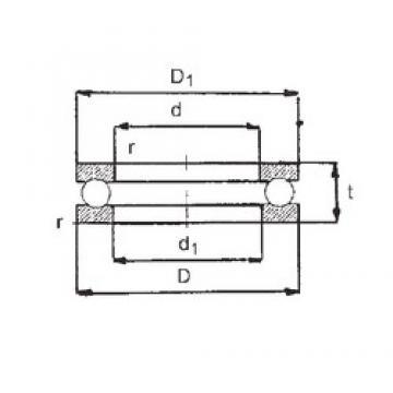 FBJ 51406 thrust ball bearings