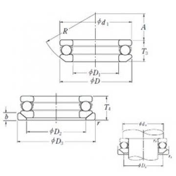 NSK 53213U thrust ball bearings