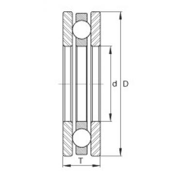 INA 2044 thrust ball bearings