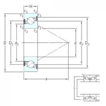 25 mm x 52 mm x 15 mm  25 mm x 52 mm x 15 mm  SNFA BS 225 /S 7P62U thrust ball bearings
