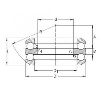 40 mm x 110 mm x 18 mm  40 mm x 110 mm x 18 mm  NKE 54410 thrust ball bearings