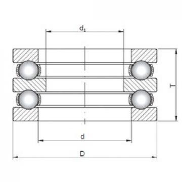 ISO 52315 thrust ball bearings
