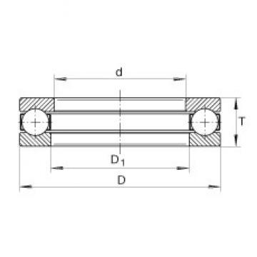 INA 928 thrust ball bearings