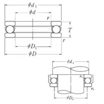 NSK 51224 thrust ball bearings