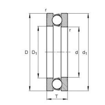 FAG 51168-MP thrust ball bearings