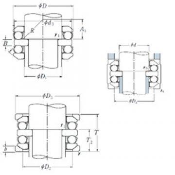 90 mm x 190 mm x 30 mm  90 mm x 190 mm x 30 mm  NSK 54418XU thrust ball bearings
