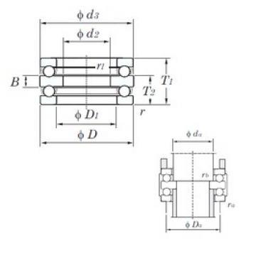 KOYO 52215 thrust ball bearings