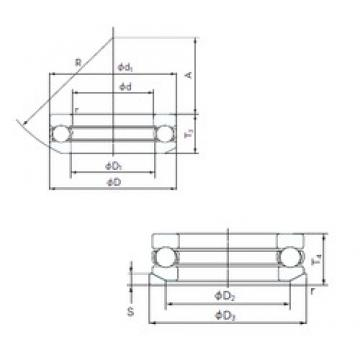 NACHI 53238U thrust ball bearings