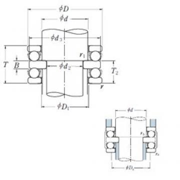 150 mm x 250 mm x 31 mm  150 mm x 250 mm x 31 mm  NSK 52330X thrust ball bearings
