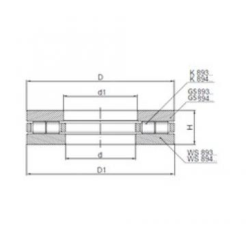 ISO 89418 thrust roller bearings
