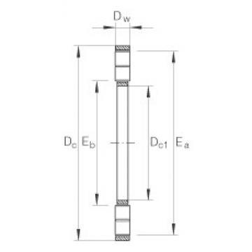 INA K89434-M thrust roller bearings
