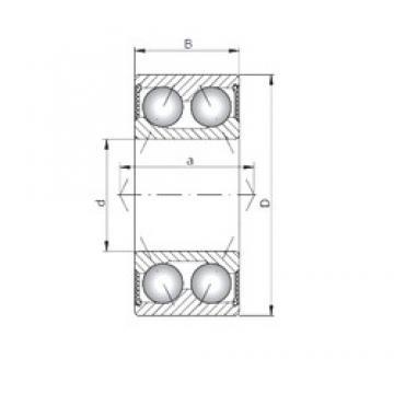 ISO 3003-2RS angular contact ball bearings
