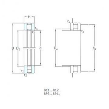 180 mm x 360 mm x 36,5 mm  SKF 89436M thrust roller bearings