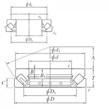 110 mm x 190 mm x 16 mm  110 mm x 190 mm x 16 mm  KOYO 29322R thrust roller bearings
