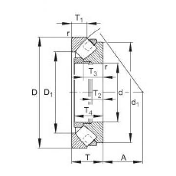 FAG 29384-E1-MB thrust roller bearings