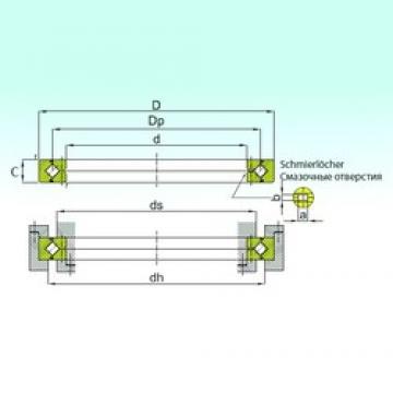 100 mm x 140 mm x 16 mm  ISB RE 10016 thrust roller bearings