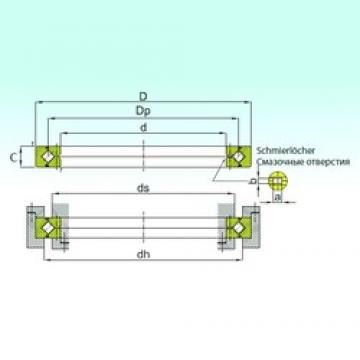 300 mm x 360 mm x 25 mm  ISB RE 30025 thrust roller bearings
