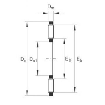INA AXK0619-TV thrust roller bearings
