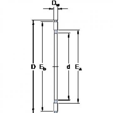 SKF AXK 1024 thrust roller bearings