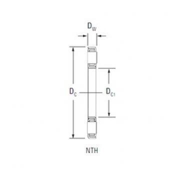 KOYO NTH-2448 thrust roller bearings