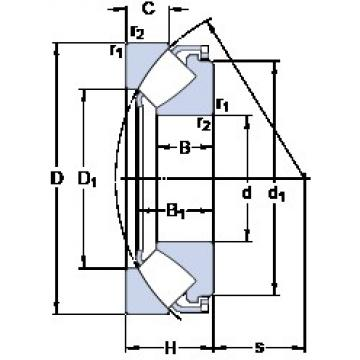 70 mm x 150 mm x 31 mm  SKF 29414 E thrust roller bearings