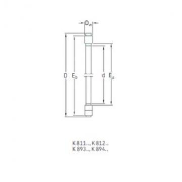 SKF K89424M thrust roller bearings