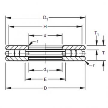 Timken 40TP115 thrust roller bearings