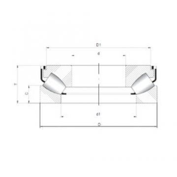 ISO 292/600 M thrust roller bearings