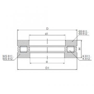 ISO 81236 thrust roller bearings