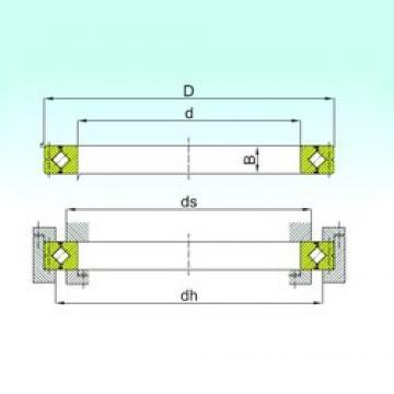 250 mm x 355 mm x 40 mm  250 mm x 355 mm x 40 mm  ISB CRB 25040 thrust roller bearings