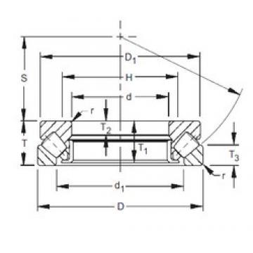 260 mm x 420 mm x 32 mm  260 mm x 420 mm x 32 mm  Timken 29352 thrust roller bearings