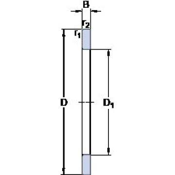 SKF GS 89434 thrust roller bearings