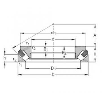 80 mm x 170 mm x 36 mm  NKE 29416-M thrust roller bearings