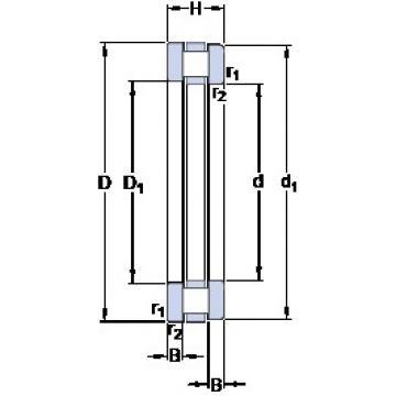 1120 mm x 1320 mm x 34 mm  SKF 891/1120 M thrust roller bearings