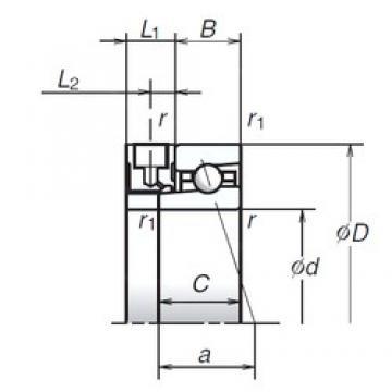 90 mm x 140 mm x 24 mm  90 mm x 140 mm x 24 mm  NSK 90BNR10XE angular contact ball bearings