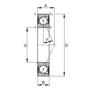 70 mm x 110 mm x 20 mm  FAG B7014-E-2RSD-T-P4S angular contact ball bearings