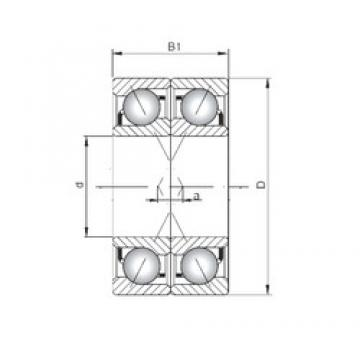 ISO 7001 BDF angular contact ball bearings