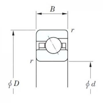190,5 mm x 209,55 mm x 9,525 mm  190,5 mm x 209,55 mm x 9,525 mm  KOYO KCA075 angular contact ball bearings
