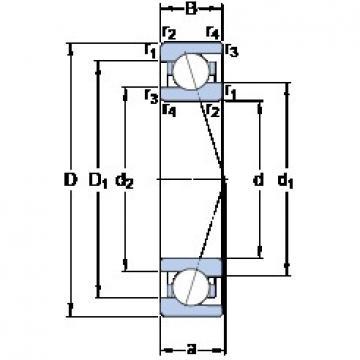 90 mm x 125 mm x 18 mm  SKF 71918 ACE/P4A angular contact ball bearings