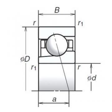 12 mm x 32 mm x 10 mm  NSK 12BGR02S angular contact ball bearings