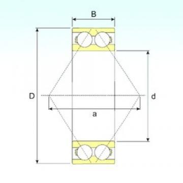 60 mm x 130 mm x 54 mm  CYSD 3312 angular contact ball bearings